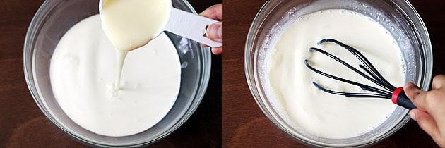 mix everything to make kulfi mixture