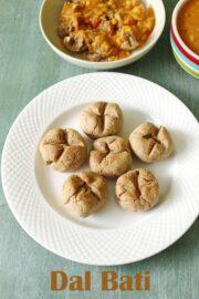 Dal Bati Recipe (How to make Rajasthani Dal Baati Recipe with Churma)