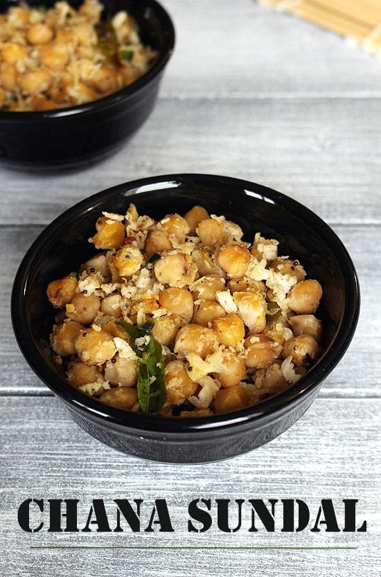 Chana Sundal Recipe (How to make Chickpeas Sundal Recipe)