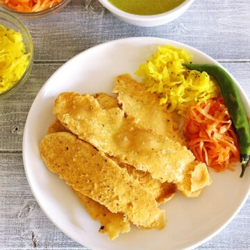 Fafda Recipe (How to make Gujarati Fafda Gathiya Recipe)