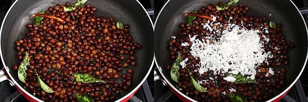 Kala Chana Sundal Recipe (How to Make Kondai Kadalai Sundal)