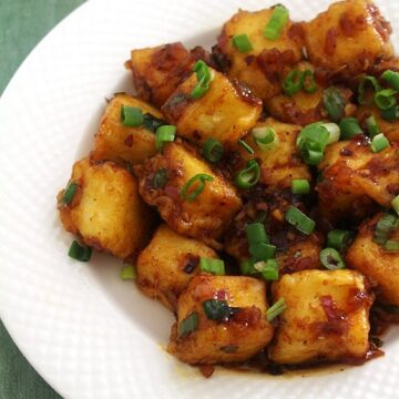 Paneer Manchurian Dry Recipe (How to make Dry Paneer Manchurian)