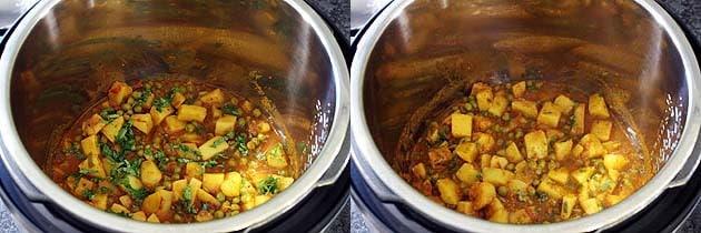 Instant Pot Aloo Matar Recipe (10 Minutes Potato Peas Curry in IP)
