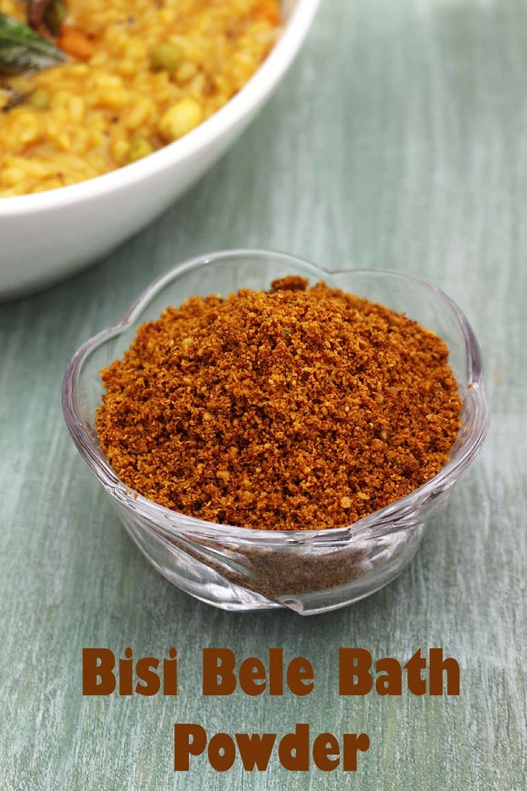 Bisi Bele Bath Powder Recipe (Bisi Bele Bath Masala Powder)