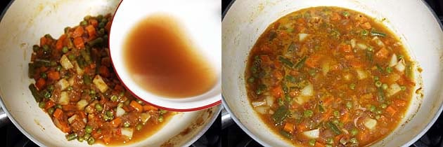 add tamarind water and simmer