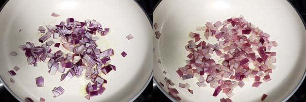 saute onion for bisi bele bath recipe