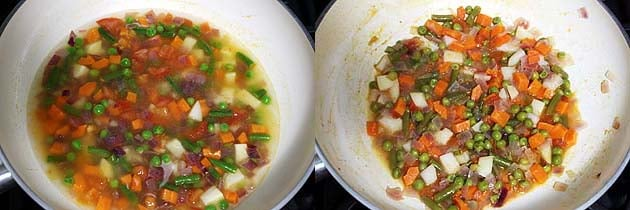 vegetables cooked till soft and tender