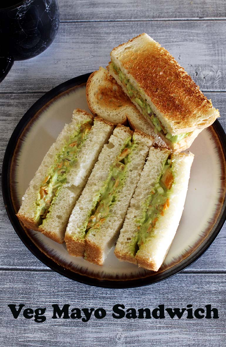 veg mayonnaise sandwich recipe how to make mayo sandwich