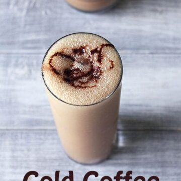Cold Coffee with Ice Cream (Coffee Milkshake Recipe), Cafe style
