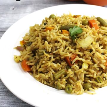 Instant Pot Veg Pulao Recipe (Fluffy, Fragrant Vegetable Pulao in IP)