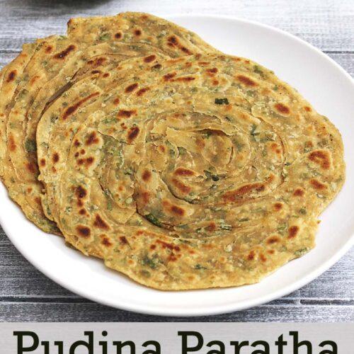 Pudina Paratha Recipe (Restaurant style Mint Paratha Recipe)