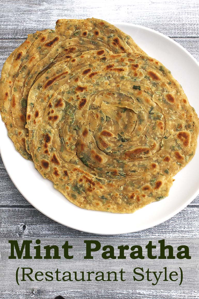 Pudina Paratha Recipe (Restaurant style Mint Paratha Recipe)
