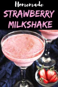 Strawberry Milkshake Recipe (using Fresh Strawberries & Ice Cream)