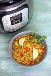 Dalia Recipe (Instant Pot Bulgur Pulao), Dalia Pulao Recipe