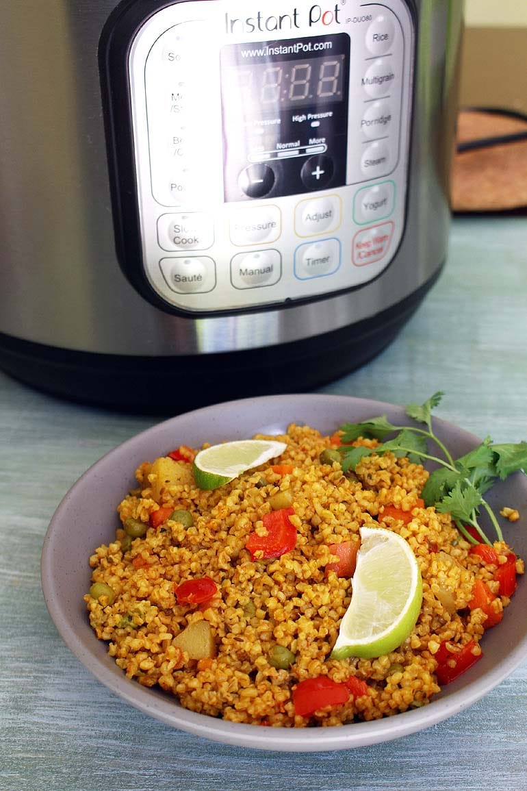 Dalia Recipe (Instant Pot Bulgur Pulao), Dalia Pulao Recipe