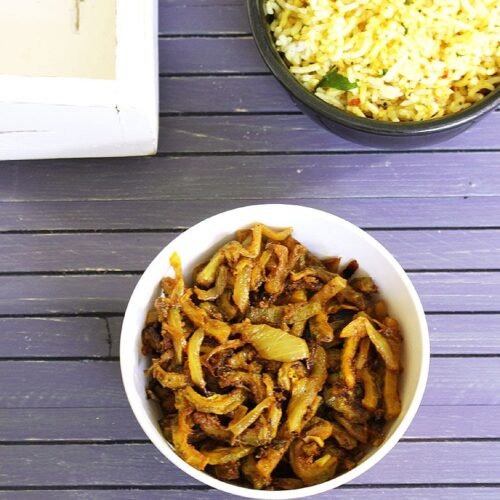 Karela Sabji Recipe (Indian Bitter Gourd Curry Recipe)