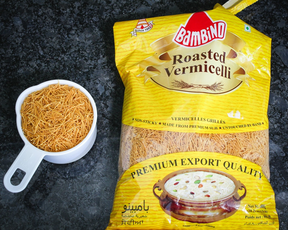 packet of roasted vermicelli