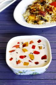 Capsicum Raita Recipe for Biryani (how to make Shimla Mirch Raita)