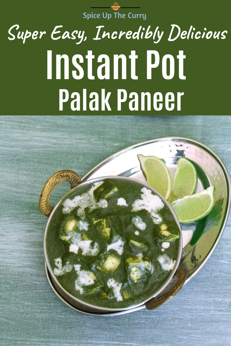 Instant Pot Palak Paneer Recipe Pin