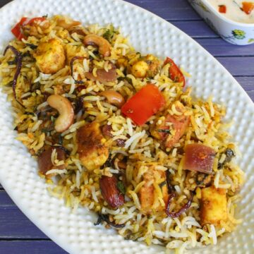Hyderabadi Paneer Dum Biryani Recipe