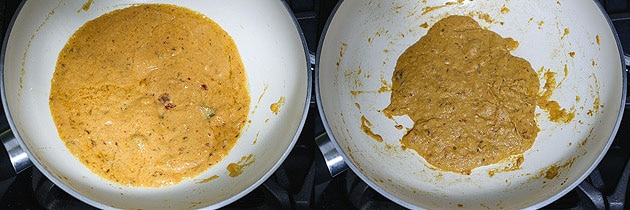 sauteing onion paste for paneer kofta gravy