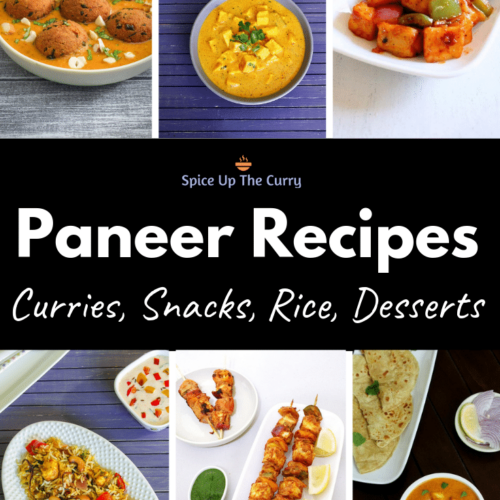 Paneer Recipes (40 Easy and Quick Indian Paneer Recipes)