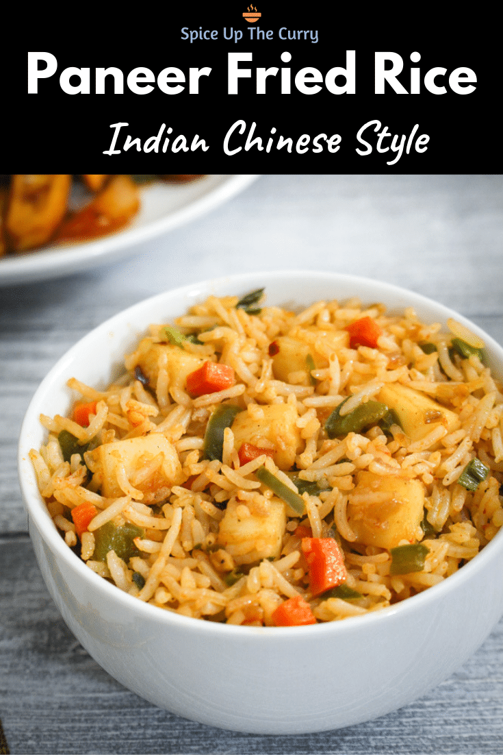Paneer Fried Rice Recipe (How to make Paneer Fried Rice) Pin