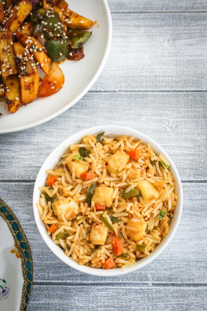 Paneer Fried Rice Recipe (How to make Paneer Fried Rice)