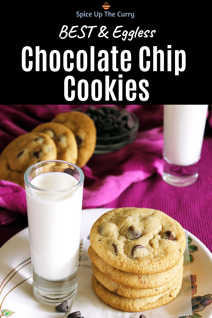 Eggless chocolate chip cookies pin