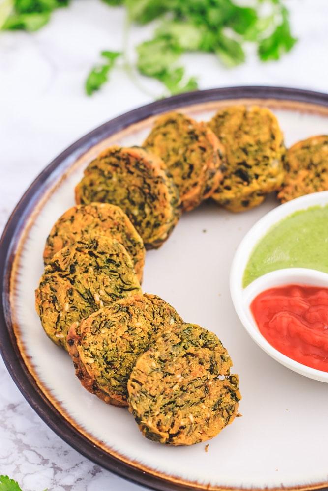 Crispy Kothimbir Vadi Recipe (Maharashtrian Snack)