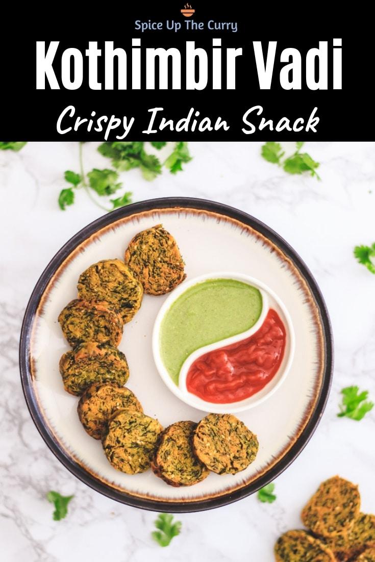 Crispy Kothimbir Vadi Recipe Pin