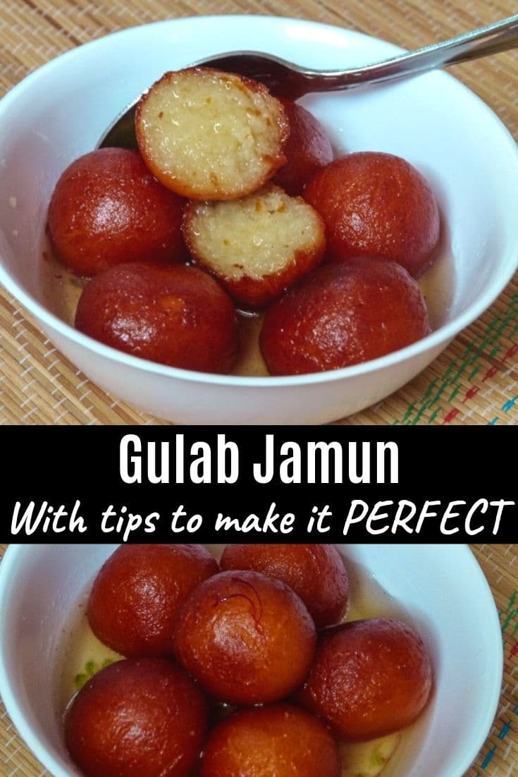 Gulab Jamun Recipe (with Khoya) PIN