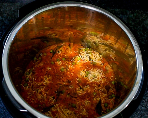 tomato rice cooked in instant pot