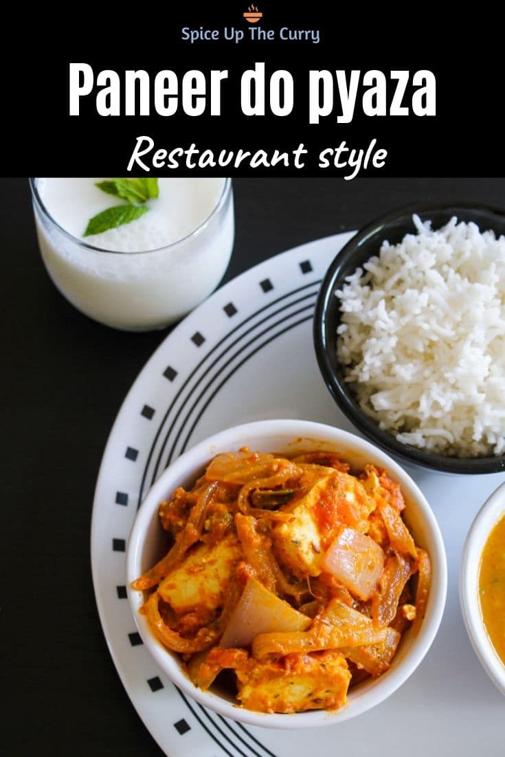 Paneer do pyaza recipe (Restaurant style) Pin