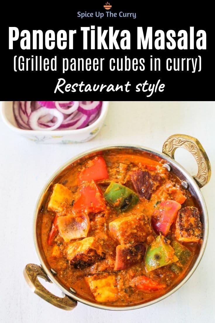 Paneer Tikka Masala Recipe (Restaurant Style) Pin