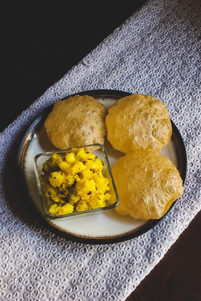 Maharashtrian Poori Bhaji Recipe