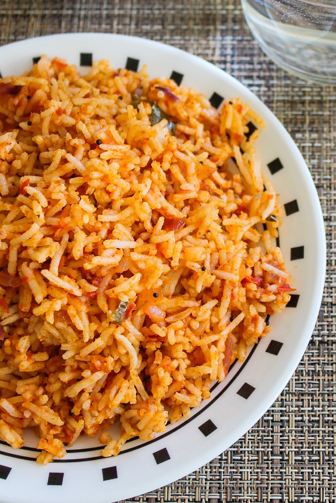 Tomato Rice Recipe (Thakkali Sadam)