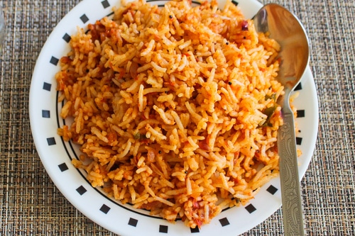 Tomato Rice in a plate