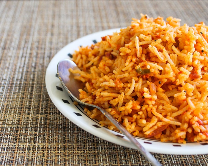 South Indian Tomato Rice Recipe