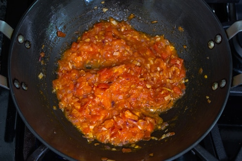 tomatoes cooked till soft