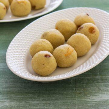 Rava laddu recipe with condensed milk