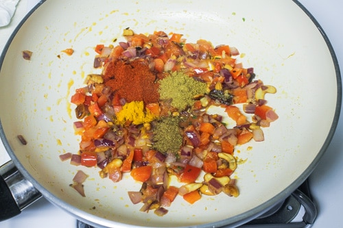 adding spice powders