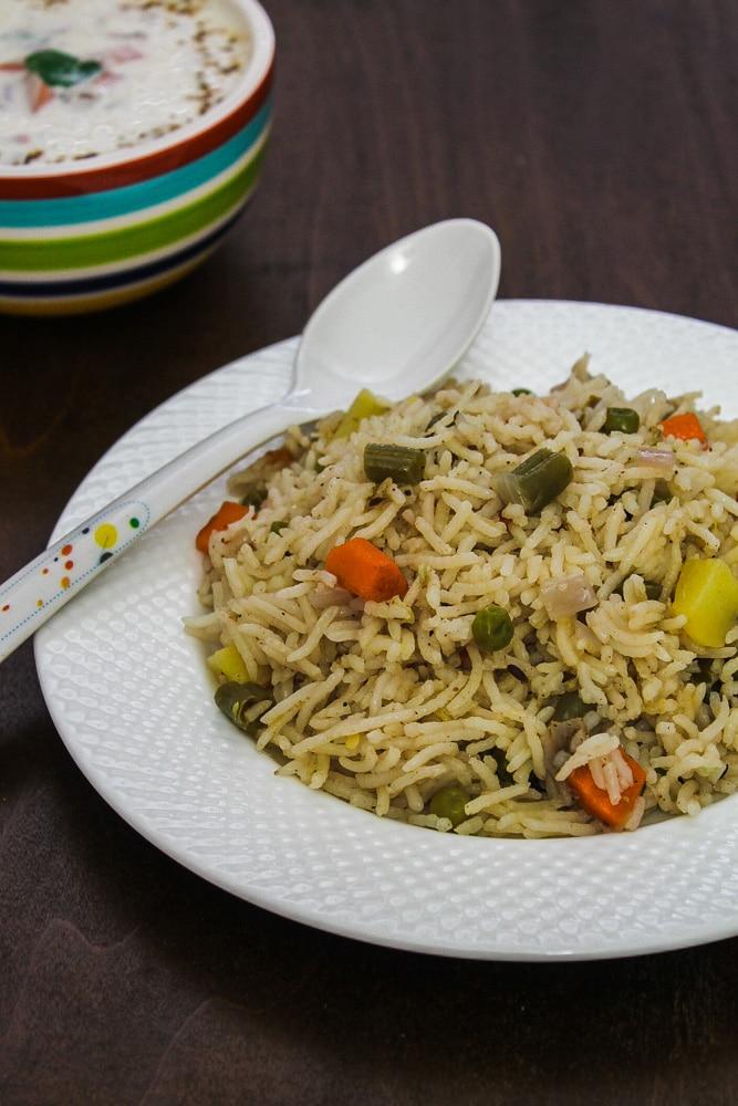 veg pulao recipe (rice pilaf)