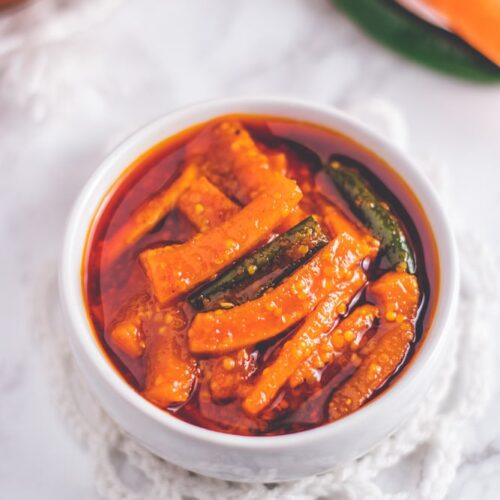 how to make carrot pickle (Indian style)