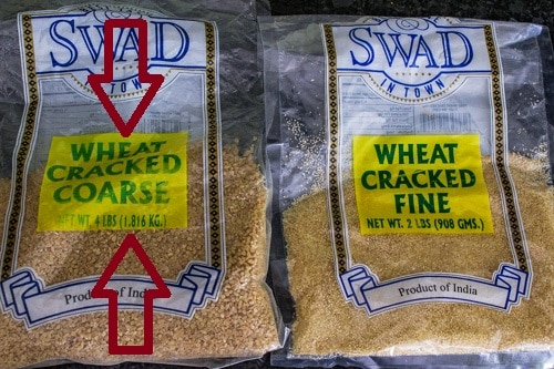 Cracked wheat (coarse and fine)