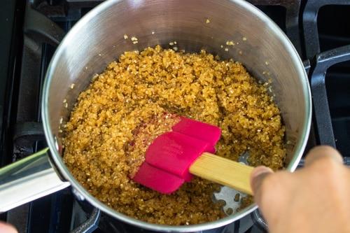 roasting dalia for lapsi