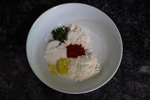 paneer marinade ingredients in a bowl
