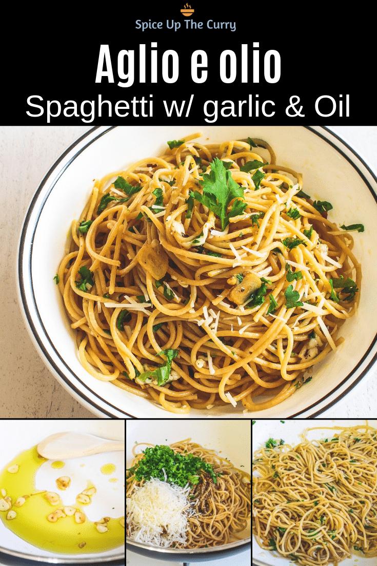spaghetti aglio e olio pin