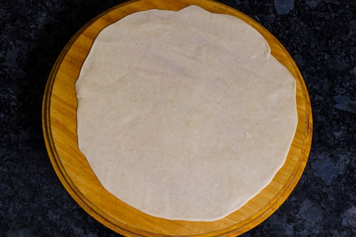 rolled chapati