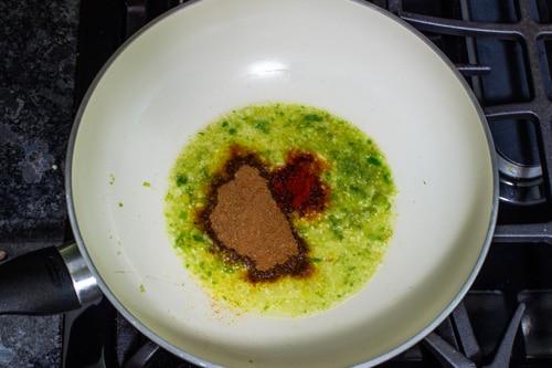 adding frankie masala